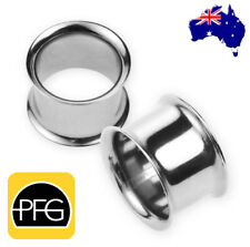 1 x 316L Surgical Stainless Steel Double Flared Ear Flesh Tunnel Body Jewellery