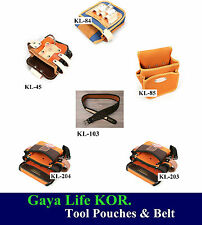 New HQ Leather & Nylon Belt Clip Pocket Tool Pouches & Belt made in KOR.