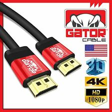 Premium HDMI Cable Gator Cable V1.4 3D 1080P HDTV LCD LED PS4 XBOX BLURAY US LOT