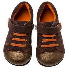Little Blue Lamb Brown Lace Cow Leather Casual Shoes Toddler Boys 6 to 10