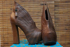 Womens Hot New Brown High Heel Ankle Fashion Boots Penny Sue's Cha Cha RETAIL$89