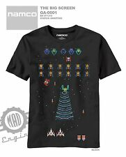 Namco Galaga Classic Video Game Black T shirt Atari Retro