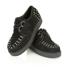 NEW WOMEN'S CASUAL PLATFORM HEEL LACE-UP CREEPERS CRUSHERS GOTH PUNK SHOES 3-8
