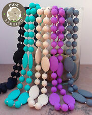 Silicone Breastfeeding Nursing Necklace Chew Teething Beads for Mom Scarlett