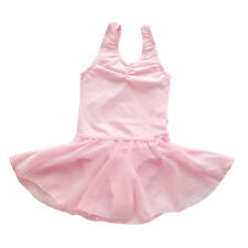 New Girls Ballet Dress Kids Leotard Dancewear Baby Toddler Skate Skirt Sz 2-10Y