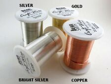 Bead Smith Wire Gold/Silver/Bright Silver/Copper col 16-18-20-22-24-26-28 ga