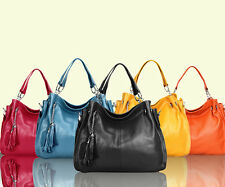 Utility Real Genuine Leather Women tote Handbag Satchel Shoulder Crossbody Bag