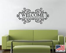Vinyl Wall Decal Art Saying Quote Decor - Welcome May all who enter as guests