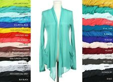 Long Sleeves with Pocket Shawl Collar Open Drape Cardigan Sz. S,M,L,1XL,2XL,3XL