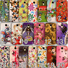 Glossy Printed TPU Flower Butterfly Pattern Back Case  for Samsung Galaxy Phones