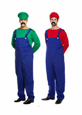 MENS FUNNY CHEAP FANCY DRESS COSTUME HALLOWEEN OUTFIT WORKMEN MARIO MFD1006