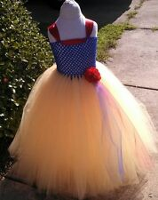 Custom Made to Order Snow White Themed Tulle Tutu Dress!!