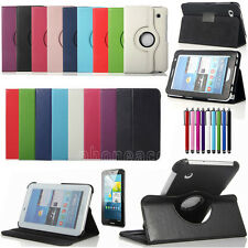 PU Leather Case Stand Cover For Samsung Galaxy Tab 2 7.0 Tablet P3100 + Pen/Film