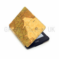 RETRO OLD MAP THIN PU LEATHER CASE COVER FOR NEW AMAZON KINDLE PAPERWHITE + SP