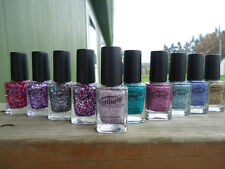 Color club nail polish Beyond the Mistletoe & Backstage Pass holographic glitter