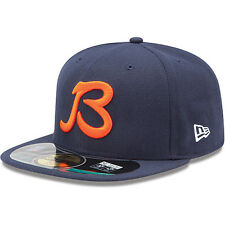New Era 5950 CHICAGO BEARS NFL On Field Cap Fitted Navy Hat 59FIFTY B GSH