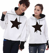 4 Colors Fashion Couples Lovers Hoodie Sweater Coat warm Thick Women Men WL6091