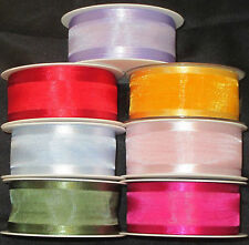 Satin Edged Organza Gift Ribbon/Cake Decorating 40mm width choice of colours