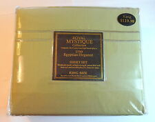 6pc Deep Pocket, 1500 Thread Count Microfiber Sheets, Queen or King - Deep Green