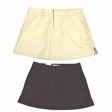 NWT 67$ HURLEY Women SKIRT LOWRIDER Mini GS14LR Size 0-1 Beige Black Polyester