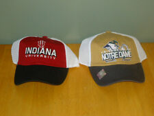 NOTRE DAME or INDIANA UNIVERSITY Hat Cap College Football Basketball NCAA 1-size