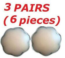 LADIES WOMENS SILICONE NIPPLE REUSABLE COVER PATCH PAD - 3 PAIRS OF PETAL COVERS