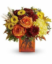 Teleflora's Autumn Expression TFL02-1A. Fresh Flower Delivery by Florist