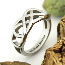 "Friends Infinity Ring Promise Double Infinity Symbol Ring ""Best Friend Forever"""