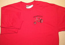 Mens Farmall H/M Long Sleeve Embroidered T-shirt (4 colors)