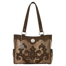 American West Bandana MONTEREY Tote/Purse - Coffee Brown & Charcoal Grey