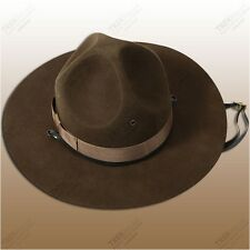 Campaign Hat 100% Wool Brown Drill Sergeant Trooper Scout  Sizes 6 3/4 to 7 3/4