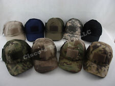 Condor TCM Tactical Mesh Ball Cap Military Operator Hat with Velcro Patch Panel