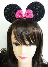 SHIMMER MINNIE MOUSE EAR WITH BOW HEADBAND FOR TODDLER, TEENS AND EVEN ADULTS