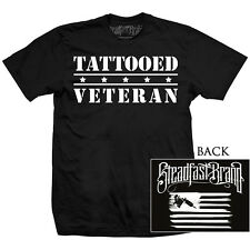 Men's Steadfast Tattooed Veteran Tee Black Shirt