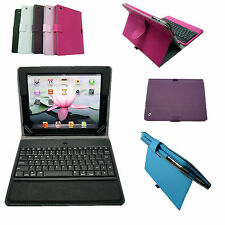 Pick Color Wireless Bluetooth Keyboard PU Case For iPad 2 / 3 / 4 / New iPad