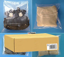 "Clear 9x12"" Poly Bags 1-Mil LDPE Plastic Open Top Packaging T Shirts Blouse Wigs"