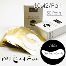 50prs Comfy Curved Shape Lint Free Gel Under Eye Pad Patch For Eyelash Extension