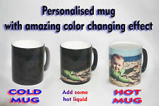 Personalised Photo Black Colour Changing Mug with your photo, text, design..11oz