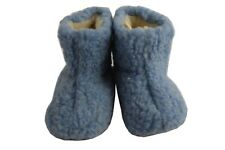 Kids Children Girls Boys Sheep's Wool Pink Blue Cream Slippers Boots