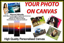 """Personalised Canvas Printing Your Photo Picture Image Printed Box Framed 16""""x22"""""""
