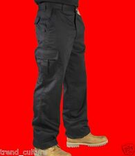 NEW! MENS CARGO COMBAT WORK MECHANIC COLLEGE LEISURE TROUSERS PANTS BLACK & NAVY