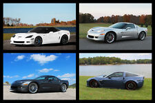 Chevy Corvette C6 Z06 ZR1 Grand Sport HD Poster Collage Print multiple sizes