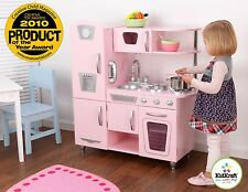 Kidkraft Pink Vintage Kitchen, Kids Wooden Play Kitchen can be personalised