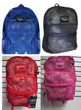 Mesh Backpack Pack See Through School Bag Clear Sports Gym Free Shipping 4 Color