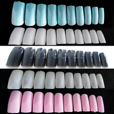 500X French Acrylic Artificial Full False Fake Nail Art Tips Makeup Decoration