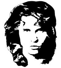 Jim Morrison Face The Doors a Vinyl Wall Art Sticker in 4 Sizes & 24 Colours