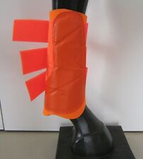 Horse Exercise & Jumping Boots ALL Orange  AUSTRALIAN MADE Choose your size