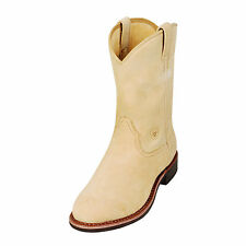 ARIAT - Men's Dura - Roper Boots - Natural Roughout - ( 10007015 ) - New