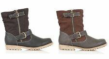 WOMENS LADIES DESIGNER FUR LINED FULL ZIP LEATHER INSOLE WINTER ANKLE BOOTS