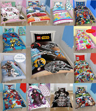 Disney Kids Characters Children Official Single Bed Quilt / Duvet Cover Sets New